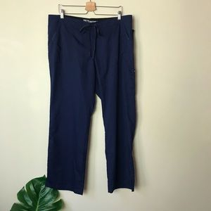 Grey's Anatomy   4 Pocket Scrub Pants Navy XL NWT